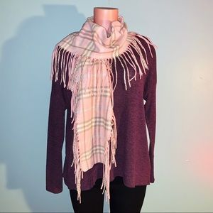 """🎉HP🎉 BURBERRY """"Happy"""" Cashmere Fringe Scarf"""